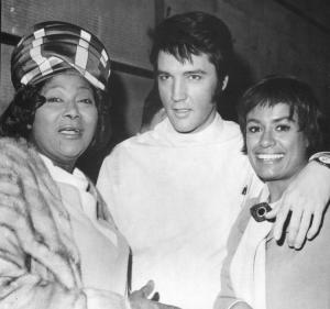 Barbara with Elvis and Mahalia Jackson